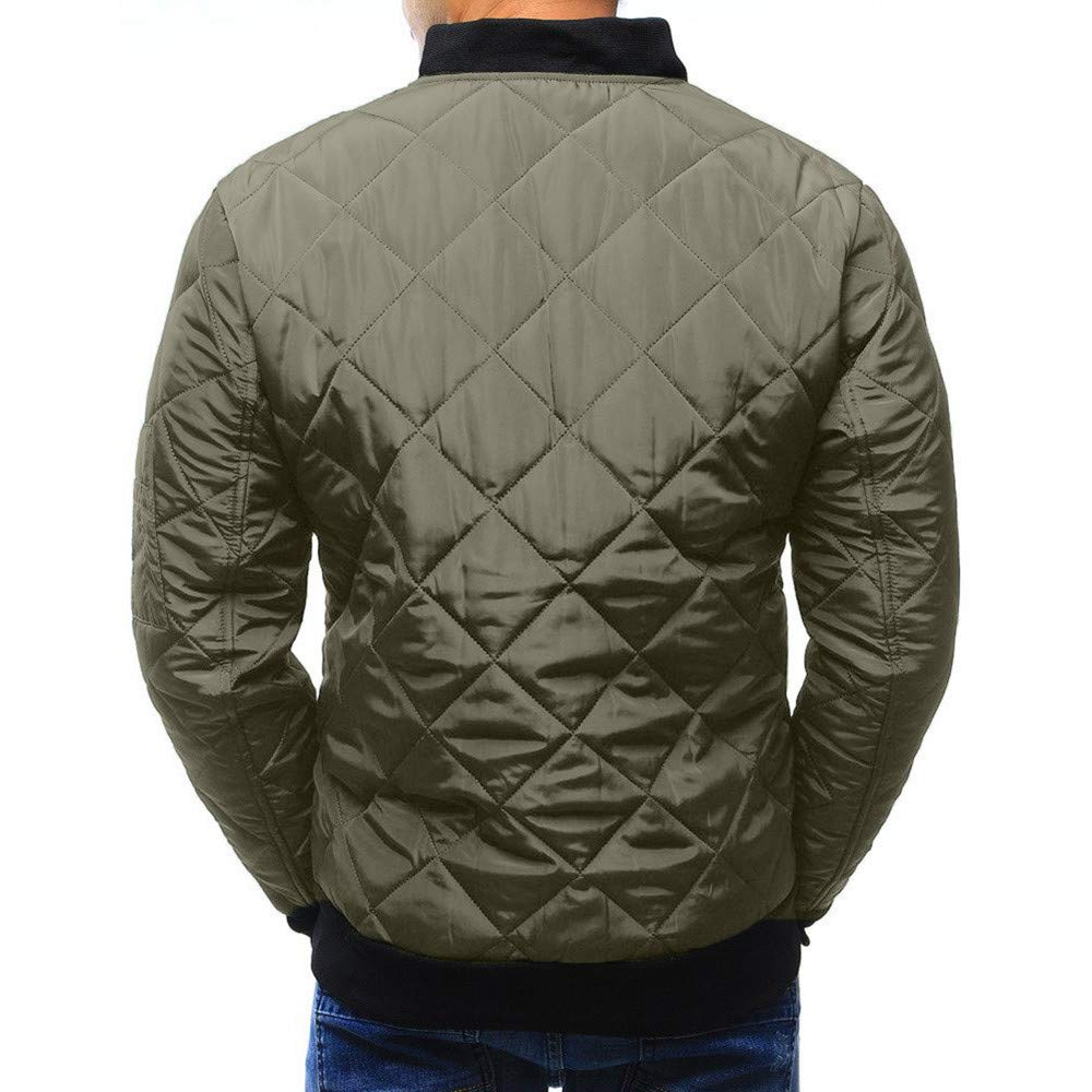 Allywit Men Winter Coat Warm Slim Fit Thick Coat Casual Jacket Outerwear Top Blouse