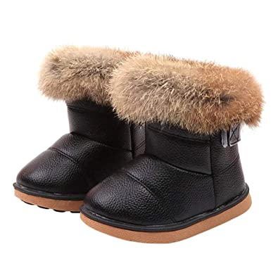6706872f QN Kids Winter Warm Snow Boots,Baby Winter Snow Boots,Toddlers Girls and  Boys