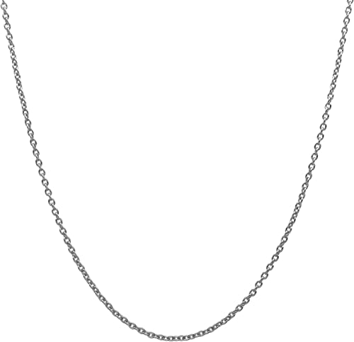 18K Gold over 925 Sterling Silver 1.7mm Italian Diamond Cut Rope Chain Necklace