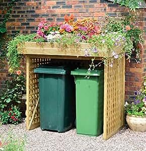 Atractivo y práctico Binstore sin puertas enrejado - Ideal para quien busque escondite esos feos contenedores - pero además perfecto para un jardinero entusiasta Buscando maximizar su espacio