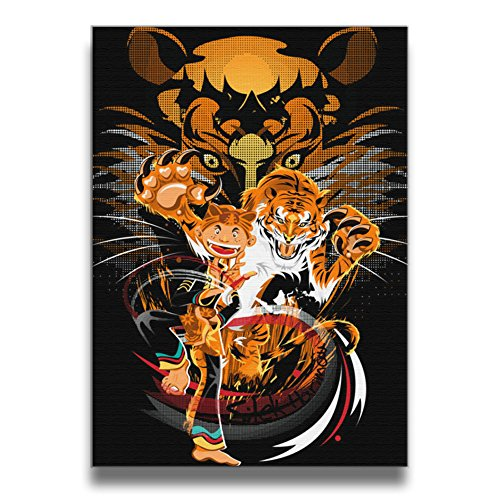 ReBorn Pencak Silat Indonesia Martial Arts Frameless Decorative Painting For Home Office Decor