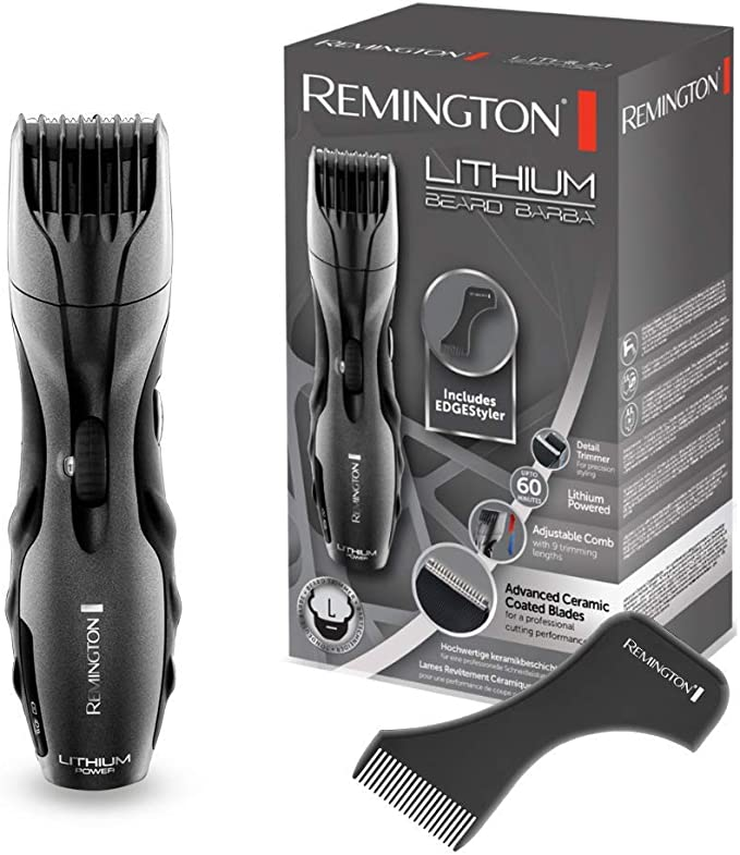 Remington MB350L Lithium Beard - Barbero, Cuchillas Cerámica ...