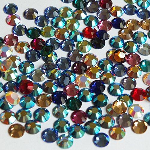 ss30 Rhinestone Gem Crystal Flat Back Color Mix Made in Austria by Swarovski Austrian Swarovski Flat Back Rhinestones