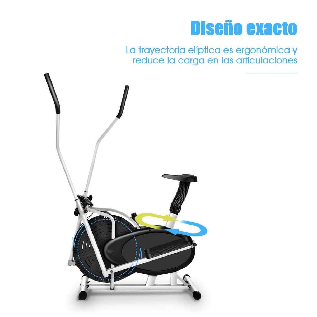 COSTWAY Bicicleta Elíptica Altura Ajustable con Consola Regulador ...