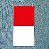 AmaPark fast dry towel flag of indonesia Excellent Water Absorbent Antistatic W9.8 x H39.4 INCH