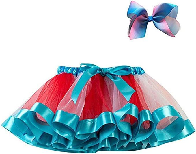 FAIRYRAIN Falda de Tul de Ballet con diseño de arcoíris con Capas ...