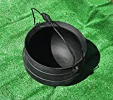 X-lg Cauldron Kettle Pot / Planter - Tripod Legs Bail Handle Cast Iron