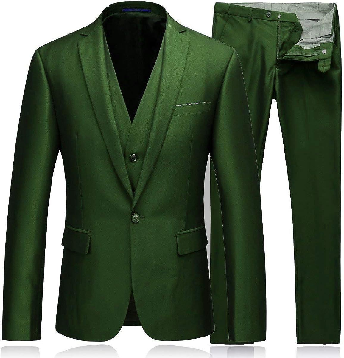 JinXuanYa Men/'s Suit One Button Slim Fit 2 Piece Suit for Men Casual//Formal//Wedding Party//Tuxedo