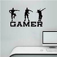 Pegatinas de pared de gamer, pegatinas de pared de juegos, pegatinas de vinilo, diseño de jugadores, decoración de pared…