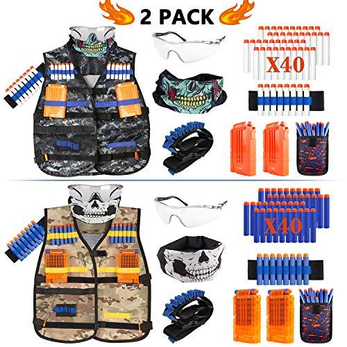 Taiker Compatible with Nerf Vest Kit, 2 Pack Tactical Vest for Nerf Gun, N-Strike Elite Jacket for Boys, Girls]()