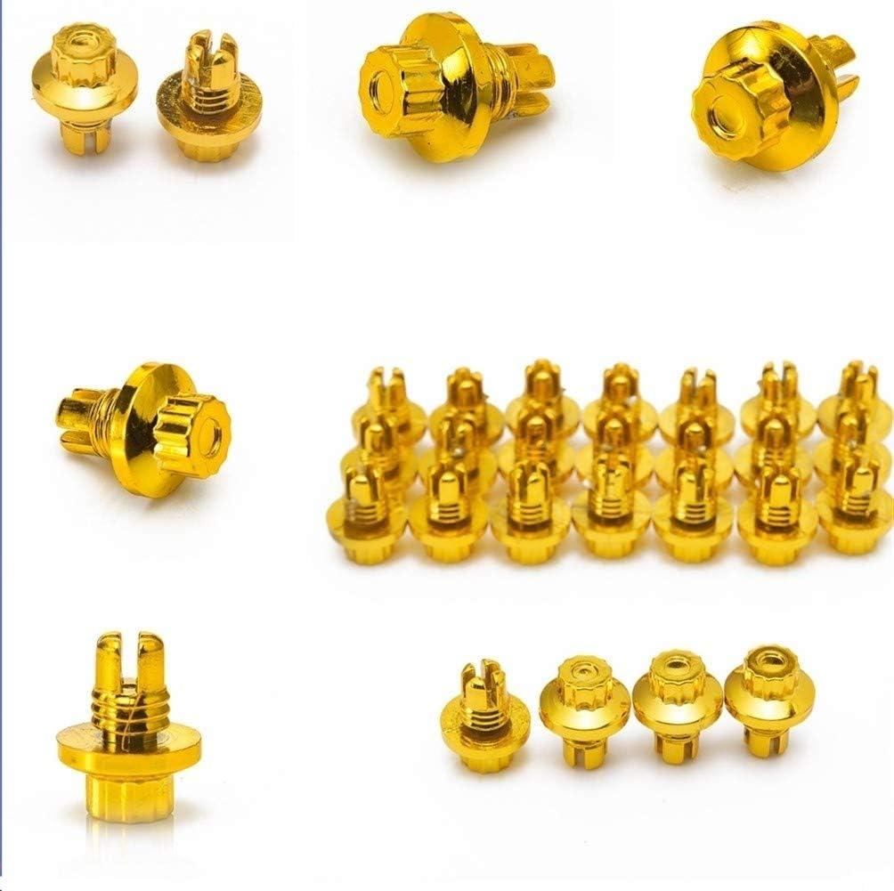 Farbe : Gold 25 St/ück Kunststoff-R/äder Nieten Passend AH Ds-Serie Felgen Cap Lip Screw Bolt Reifen XJB-LMLS