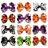 Royarebar Diverse Styles Hair Decorations 12PCS Boutique Hairc Clips Child Funny Hair Clips Halloween Decorations