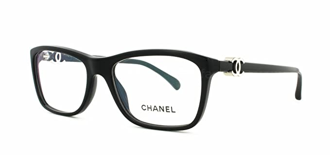 Amazon.com: Chanel CH 3234 501 52 mm Lentes Negro w plata cc ...