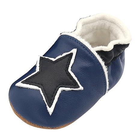 LPATTERN - Zapatos de piel suave para bebés y niñas (0-24 meses ...