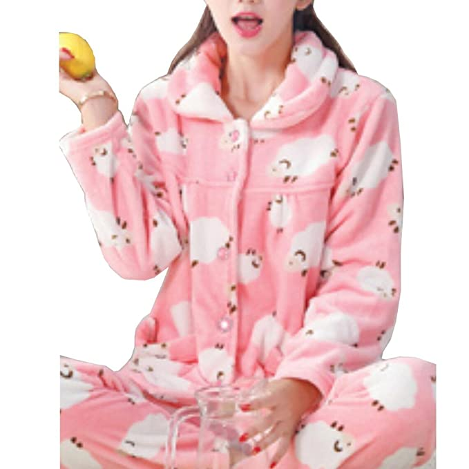 Fancy Pumpkin Pijamas de Franela de Mujer más Gruesa Cálida Traje de Bata # 09