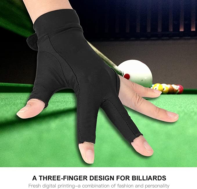 Tbest Guante de Billar,Guantes de Billar de Piscina de Snooker 3 ...