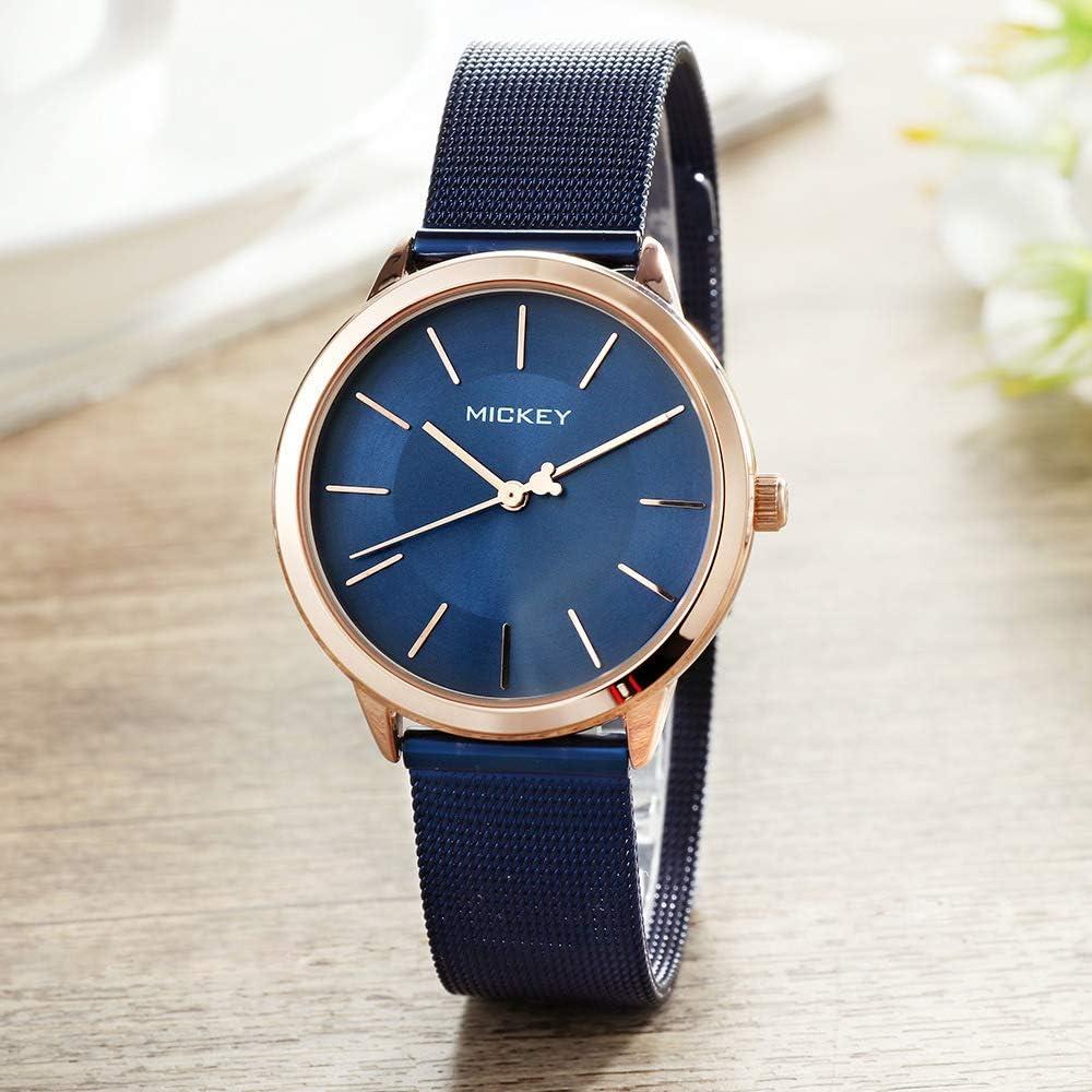 SHOUB Reloj de Mujer con Correa de Aguja Simple Cinturón de Acero Reloj para Mujer Tendencia de Moda Reloj de Moda