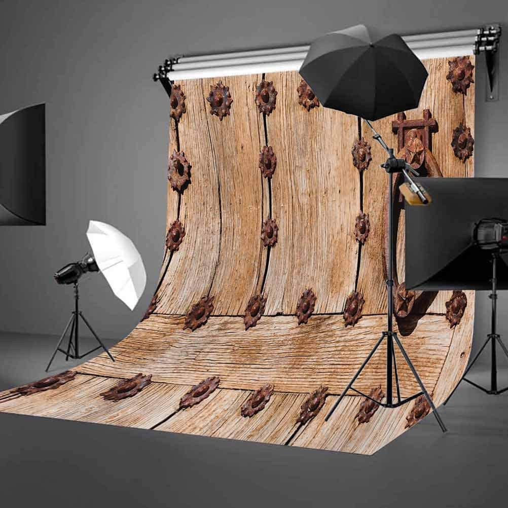 10x12 FT Backdrop Photographers,Spanish Entrance of Rusty Medieval Style Handlers Archway Facade Historical Image Background for Kid Baby Artistic Portrait Photo Shoot Studio Props Video Drape