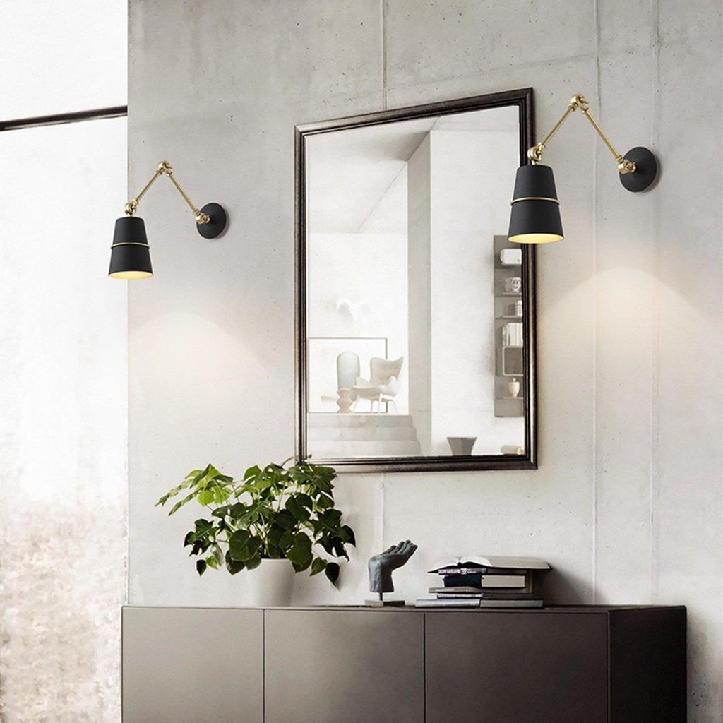 Nordic Creative Moderne Simple Mur Lampe Blanc/Noir Pour Chambre À Coucher  Salon Escalier Couloir Entrée ...