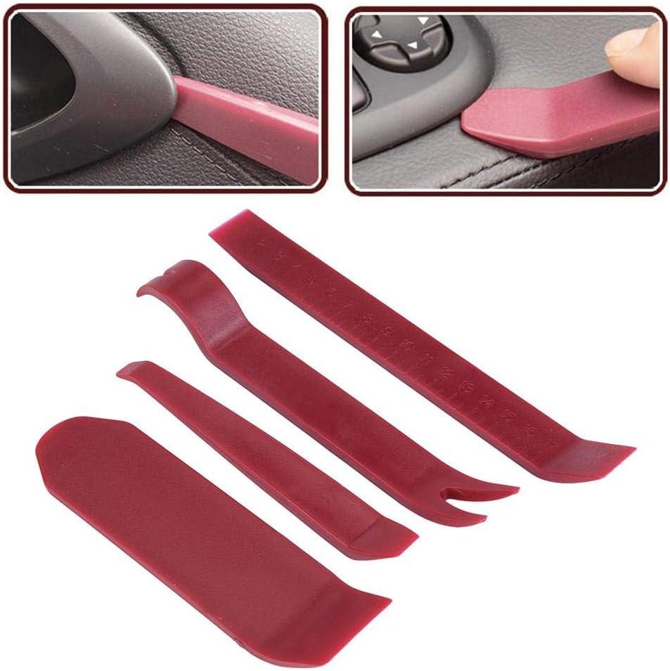 Delaman Car Stereo Radio Pry Tools Kit Door Clip Panel Cruscotto Rimozione Palmare Strumenti di Installazione 4Pcs