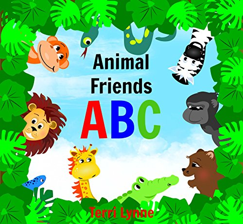 Animal Friends ABC - Early Learning Ages 0-4 Children's Picture book (4 Pics 1 Word 1 1 2 Case)
