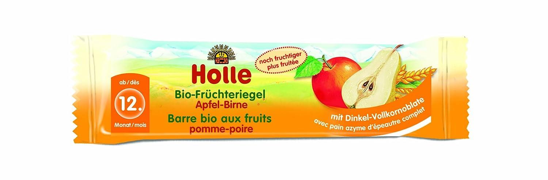 Holle Bio-Frü chteriegel Apfel-Birne, 10er Pack (10 x 25 g) 2501A Fruchtschnitte Ohne Farb- und Konservierungsstoffe