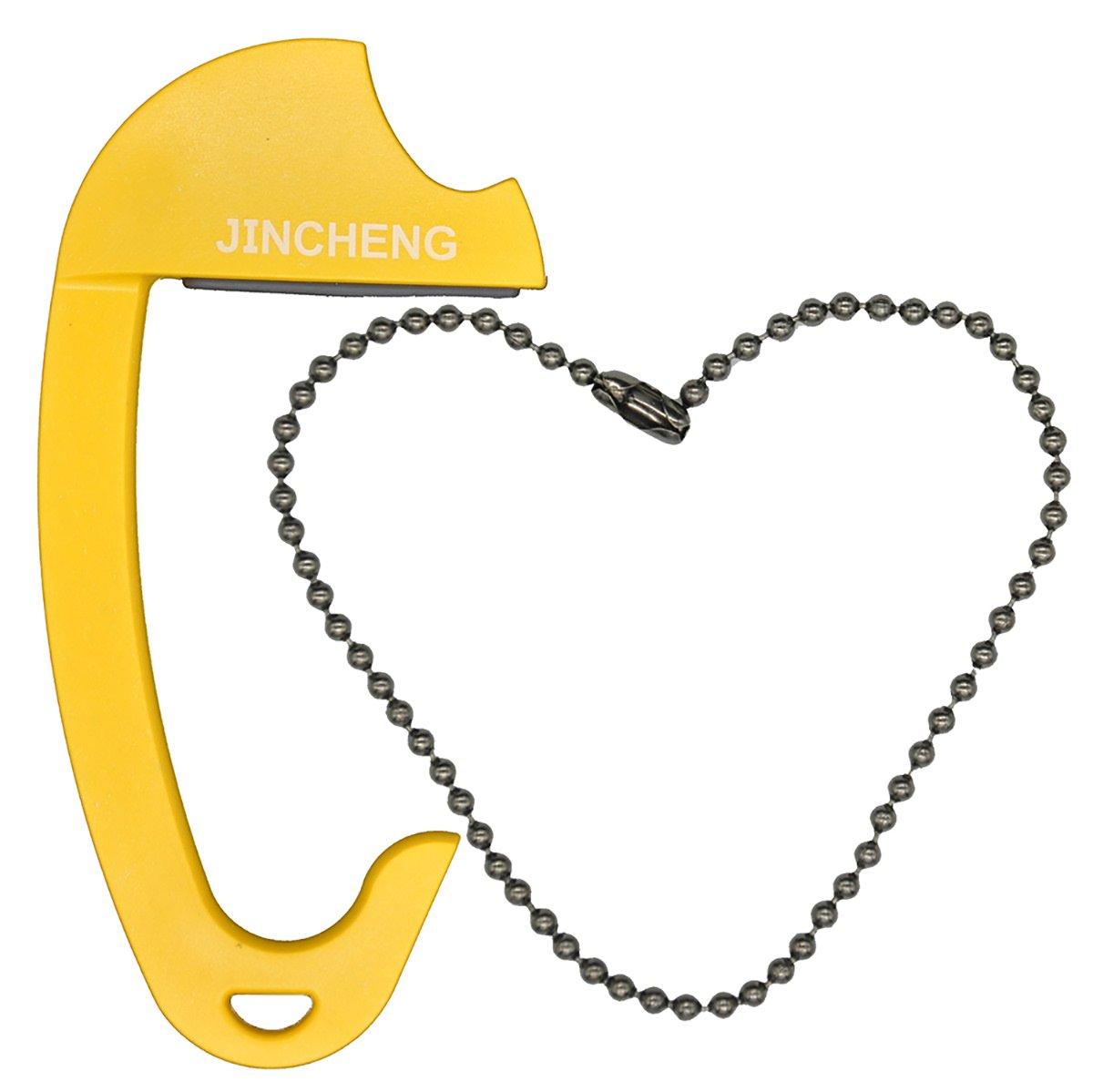 Jincheng Colgador de Bolso Para Mesa o Coche, Gancho de Bolso Portable para Peso Máximo de 15 Kg, Color Amarillo