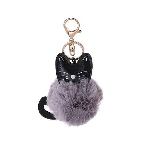 Amazon.com: Llavero con diseño de gato de puhoon con pelota ...