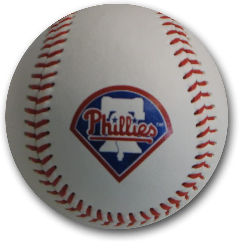 MLB Philadelphia Philies Blank Leather Team Logo Baseballs