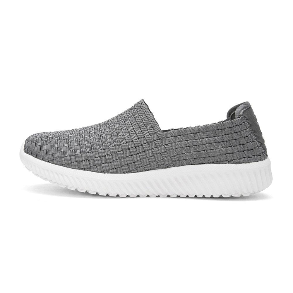 YIXINY Deporte Zapato H30M8502 Zapatos Casuales De Malla Deportes Al Aire Libre Zapatos Planos Cabeza Redonda Ligero Y Cómodo Azul, Gris 6 Tamaño Opcional ( Color : Gris , Tamaño : EU43/UK9/CN44 ) EU43/UK9/CN44|Gris