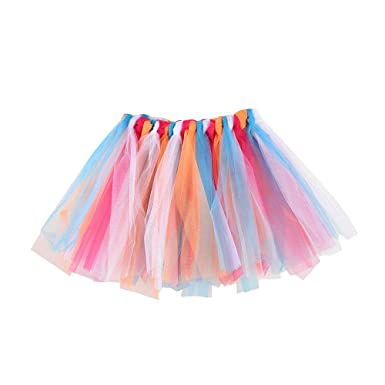 b027f3d6a Lazzboy Girls Tutu Tulle Ballet Skirt Multicolour Layers Princess Dress-up  Dance Wear for 3-8 Years Costume Party Kids(3-8 Years,Blue): Amazon.co.uk:  ...