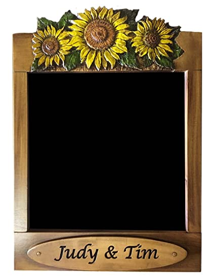 Amazon.com : Sunflower Kitchen Decor Personalized Chalkboard ...