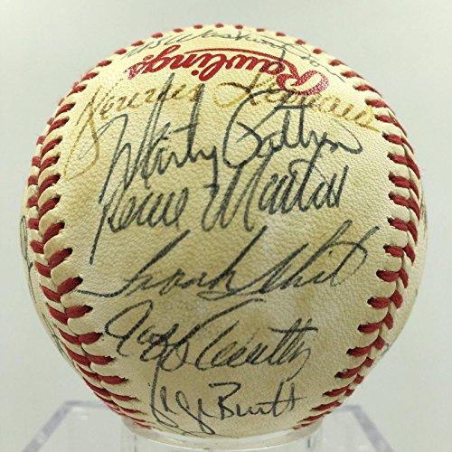 - 1980 Kansas City Royals Team Signed World Series Baseball George Brett - PSA/DNA Certified - Autographed Baseballs