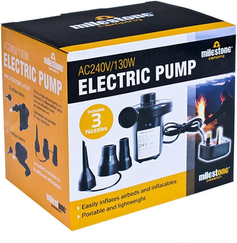 universal valves Milestone Camping /genuine leisurekraft electric air pump inflator//deflator for airbeds paddling pools /& toys 3 pin uk plug.