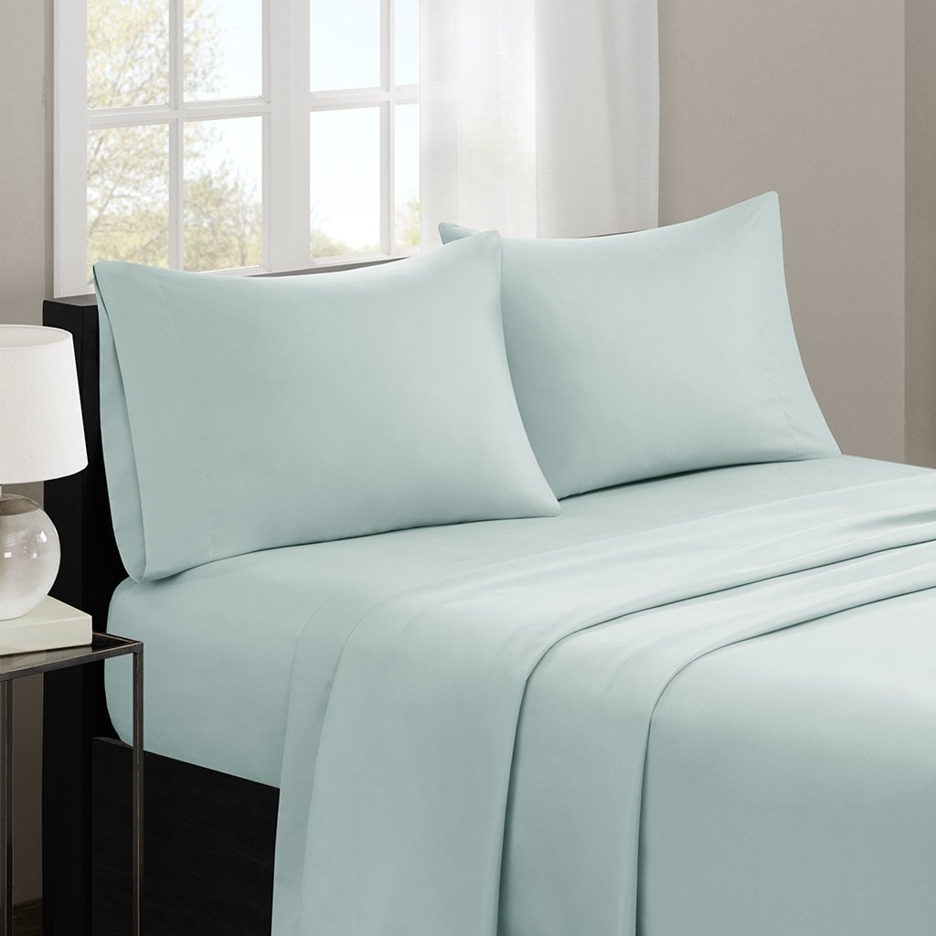 Madison Park MP20-2388 3M Microcell Sheet Set Twin Seafoam