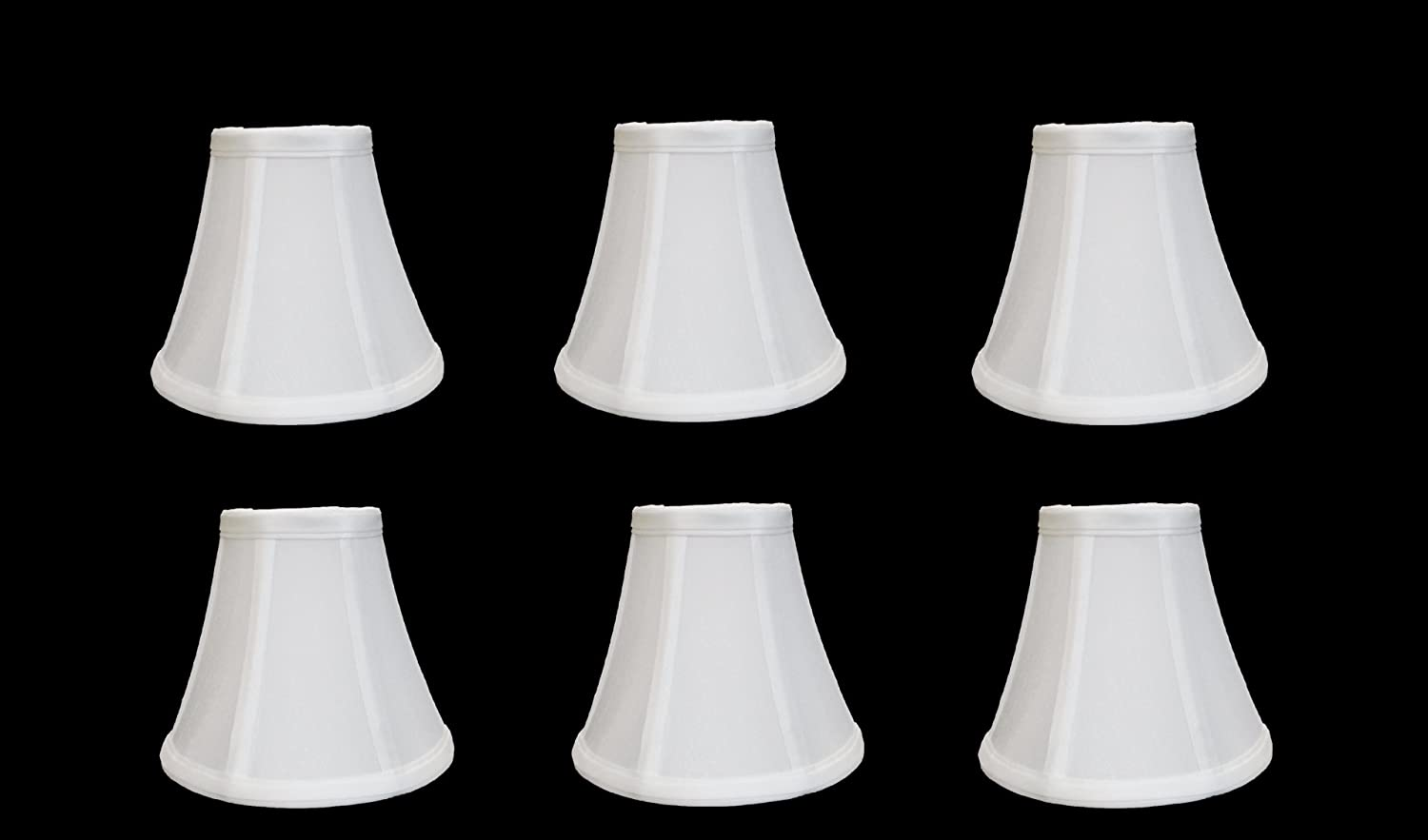 Urbanest 1100329c Chandelier Lamp Shades 6 Inch Bell Clip On White Set Of Lampshades Com