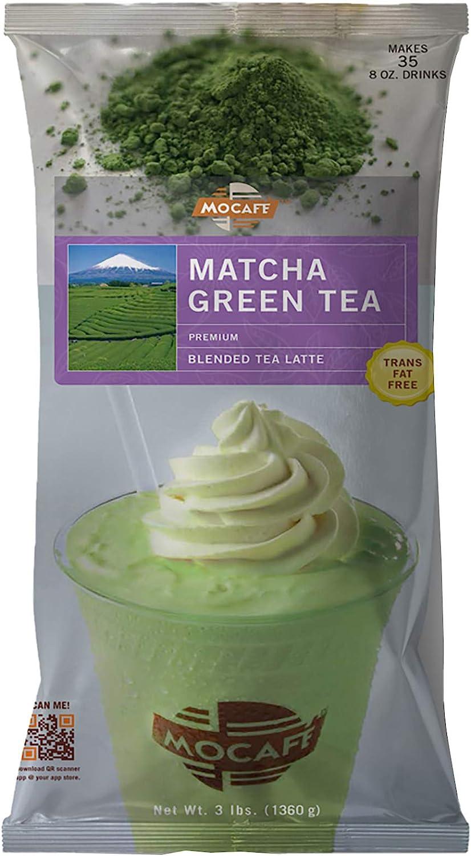MOCAFE Matcha Green Tea Blended Tea Latte, 3-Pound Bag ...