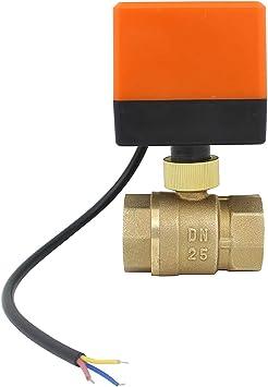 """AC 220 V G3//4/"""" DN20 Latón 3 vías Válvula de bola motorizada Válvula Eléctrica Tipo T"""