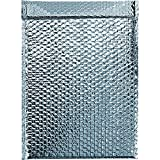BOX USA BINM1210 Cool Shield Bubble Mailers, 12 3/4'' x 10 1/2'', Silver, 12.75'' Width, 10.5'' Length (Pack of 50)