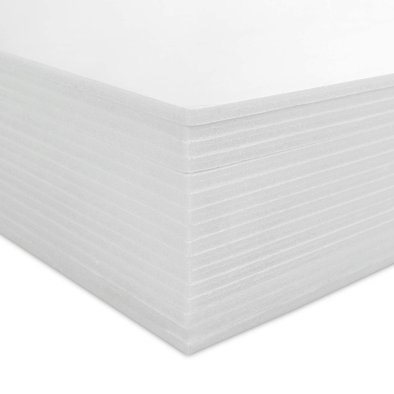 Lámina de espuma de poliestireno de 5 mm, 16 unidades, tamaño A3, 297 x 420 mm, color blanco: Amazon.es: Oficina y papelería