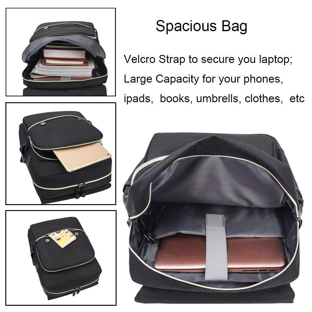 Mochila Impermeable para Ordenador port/átil de hasta 15,6 Pulgadas College Bag Unisex con USB