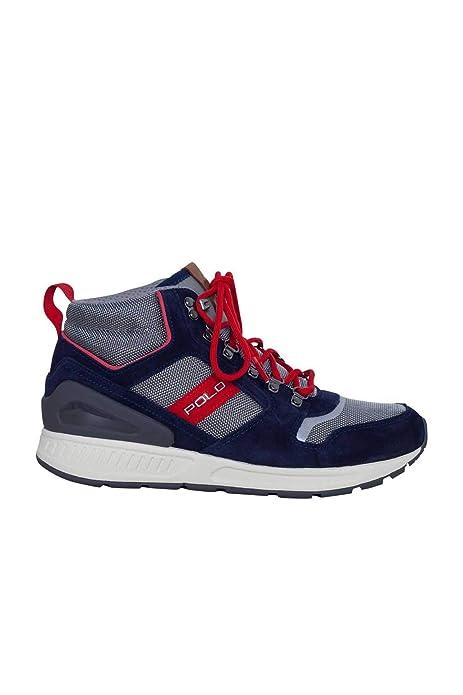 Ralph Lauren - Zapatillas para Hombre Azul Navy Azul Size: 46 EU: Amazon.es: Zapatos y complementos