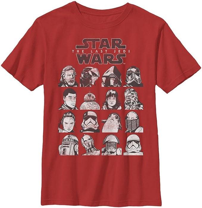 Star Wars Boys Episode 8 Last Jedi Grid Logo