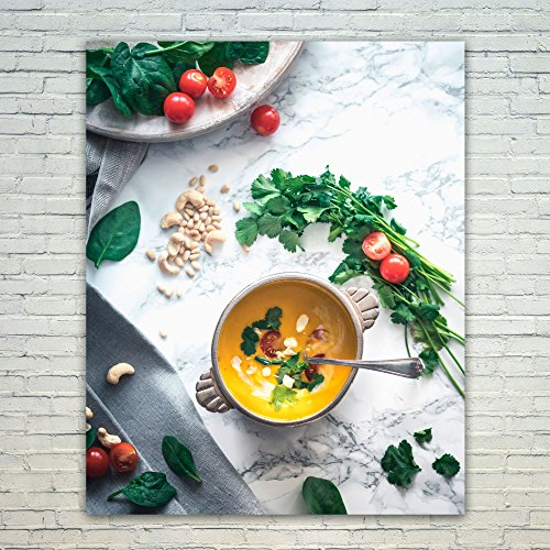 Arctic White Vegetable Bowl - Westlake Art - Poster Print Wall Art - Corn Soup - Modern Picture Photography Home Decor Office Birthday Gift - Unframed - 16x20in (a64z)