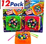 Magnetic Fishing Game by JA-RU | Kids Toys Wind Up Games Take It Everywhere You Go Includes 3 Fishing Poles 8 Mini Fish and 1 Board Pack of 12 | Item #3205