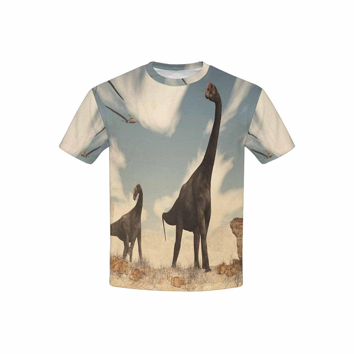 INTERESTPRINT Brontomerus Dinosaurs in Desert Childs T-Shirt XS-XL