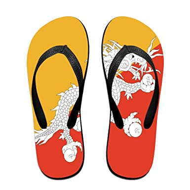 b13a6b39bae6e Bhutan Flag Cool Flip Flops For Children Adults Men And Women Beach Sandals  Pool Party Slippers