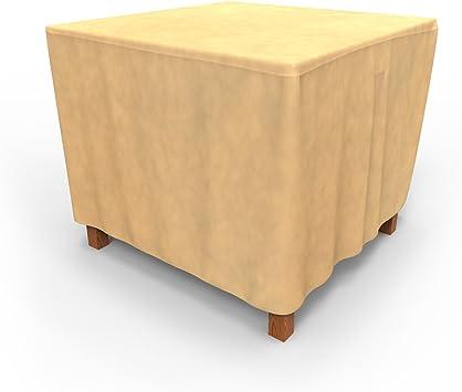 Amazon Com Budge P5a24sf1 All Seasons Square Patio Table Cover Small Tan Patio Table Covers Garden Outdoor