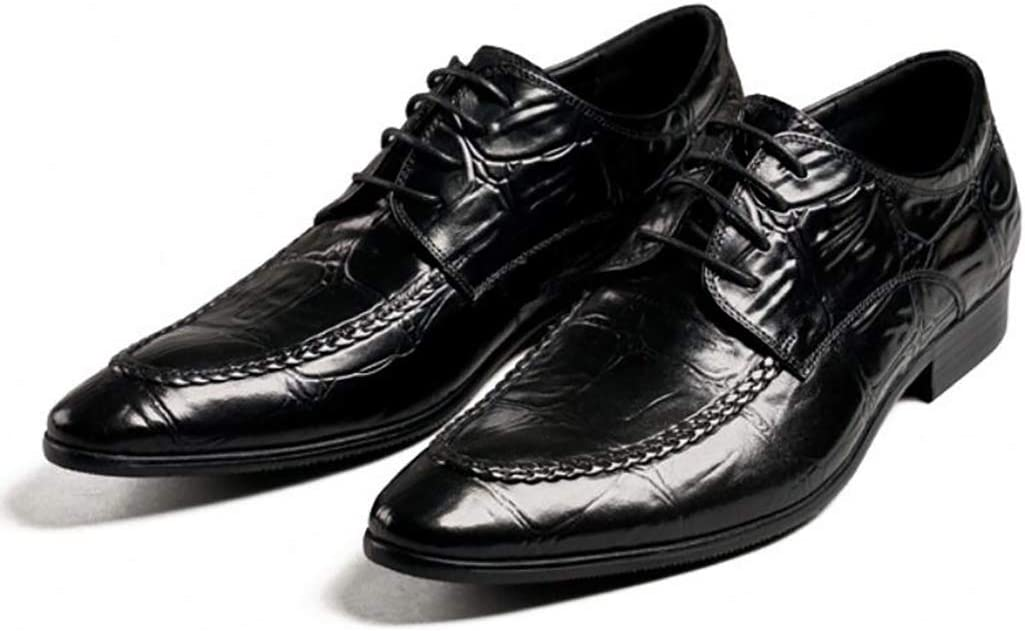 Mens Oxford Shoes Crocodile Pattern Classic Formal Dress Shoes Leather Lined Smart Wedding Lace Up Work Bussiness Shoes