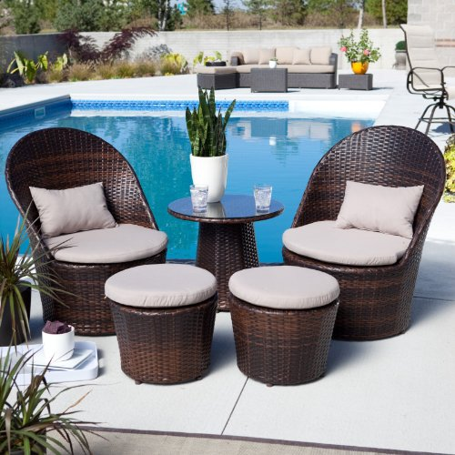 Layton All-Weather Wicker Balcony Chat Set